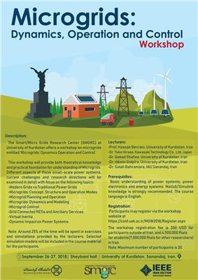 Microgrid dynamics operation and control Workshop